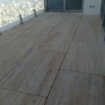 ריצוף גג תל אביב אבן טרוורטין מאירן